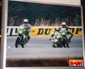 KR launch photo on display in Mr.Kiyohara's bike shop