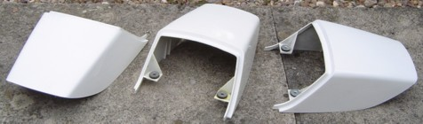 3 genuine single-seat cowls