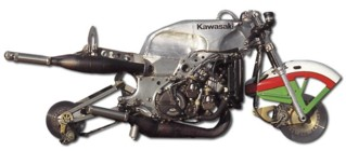 The KR500's semi-monocoque chassis