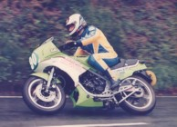 Sean Collister in the 1985 250 Production TT (thanks to Tony for the photo)