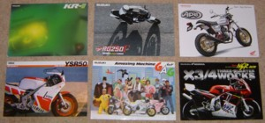 Bike brochures I bought from Yahoo Auctions Japan