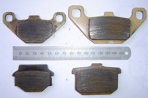 front and rear brake pad dimensions