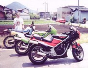 Reg and his 2 KR's (and Kawasaki D-Tracker)
