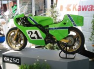 Kawasaki Racing Legends display at the 2007 TT