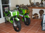 Kork's KR250 and KR500 on show at his home