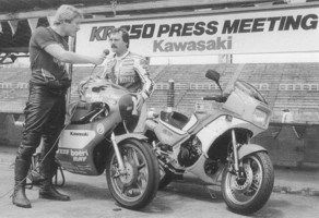 Kork being interviewed at the launch held at Fuji Speedway