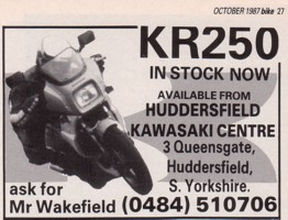 Original advert from Bike Oct 1987