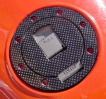 Carbon-fibre filler cap cover